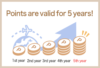 Points are valid for 5 years!